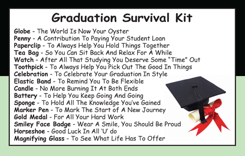 Graduation Survival Kit In A Can